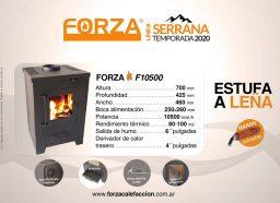 Estufa Forza Serrana F10500 - Calefacción a Leña