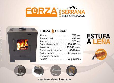 Estufa Forza Serrana F13500 - Calefacción a Leña