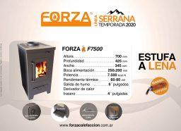 Estufa Forza Serrana F7500 - Calefacción a Leña